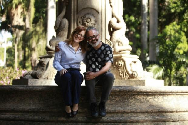 A editora de Moda Marcia em encontro com Ronaldo Fraga: pura delicadeza